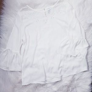 Tops - Eyelash lace Blouse